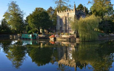 One of the smallest castles in England with one of the largest moats is up for sale