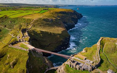 Controversial and late, Tintagel footbridge in Cornwall to open